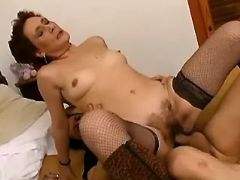Lady in years fucked in every poses