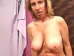 Busty milf fucked on bed