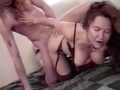 Retro lady shows first class sex