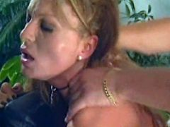 Blonde milf fucking in doggy style