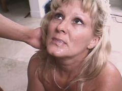 Mature fucks and gets cum in mouth