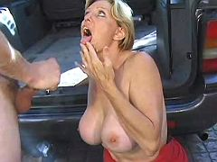 Mom gets facial after intense anal