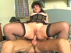Mature gets anal nailing
