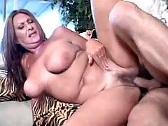 Two hot milfs get anal fuck in orgy